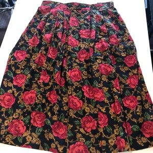 DIVERSITY midi flowy floral skirt in size 14P